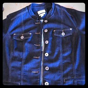 CJ Banks tailored jean jacket.